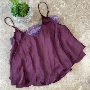 Free people turn it up camisole in vetiver bloom M